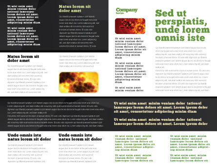 Bacilli In Green Color Brochure Template Inner Page
