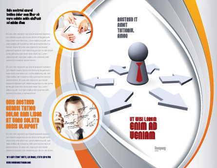 Top Management Brochure Template Outer Page