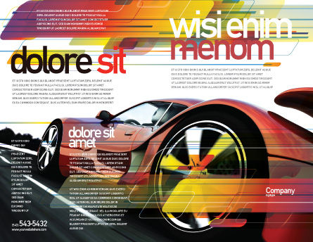 Red Supercar Brochure Template Outer Page