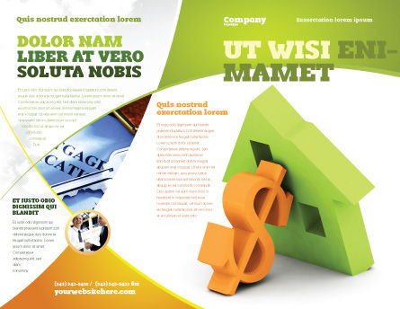 Mortgage Money Brochure Template, Outer Page, 06459, Financial/Accounting — PoweredTemplate.com