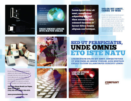 Internet eCommerce Technology Brochure Template, Outer Page, 06475, Technology, Science & Computers — PoweredTemplate.com