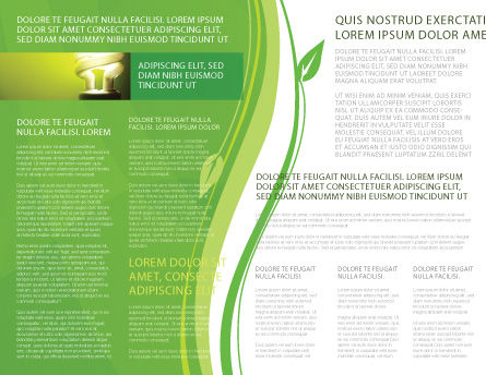 Green Eco Lamp Brochure Template, Inner Page, 06530, Technology, Science & Computers — PoweredTemplate.com