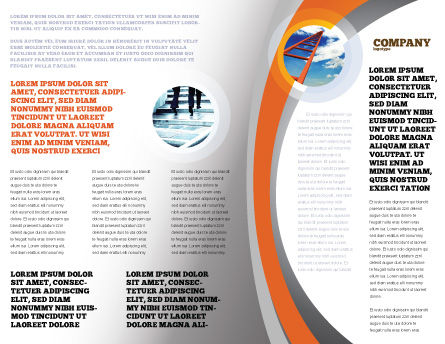 Open Door To The World Brochure Template, Inner Page, 06533, Consulting — PoweredTemplate.com