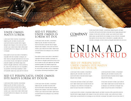 Ancient Scroll Brochure Template, Inner Page, 06539, Education & Training — PoweredTemplate.com