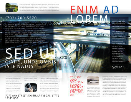Junction On Highway Brochure Template Outer Page