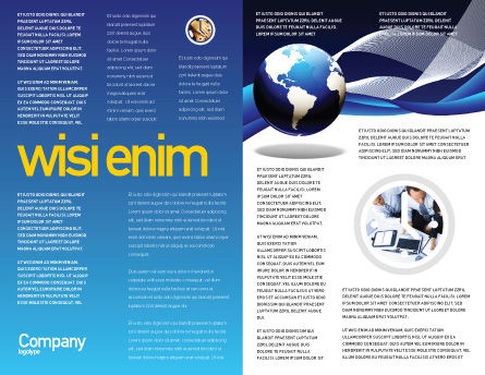 Midnight Blue Globe Brochure Template, Inner Page, 06588, Global — PoweredTemplate.com