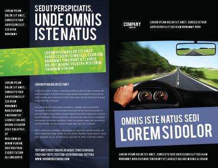 High Speed Driving Brochure Template Outer Page