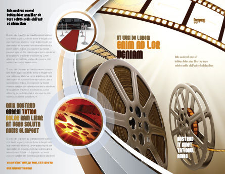 Film Reel In Light Brown Color Brochure Template, Outer Page, 06599, Art & Entertainment — PoweredTemplate.com