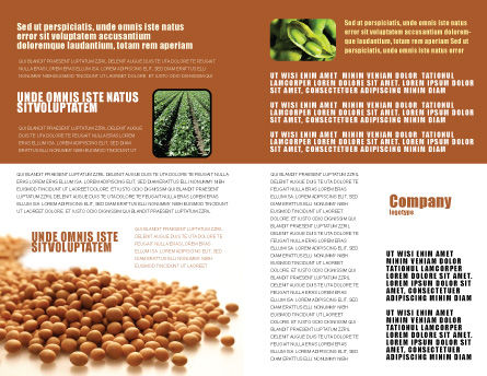 Soy Beans Brochure Template, Inner Page, 06609, Agriculture and Animals — PoweredTemplate.com