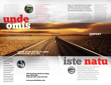 Highway In Sepia Brochure Template Outer Page
