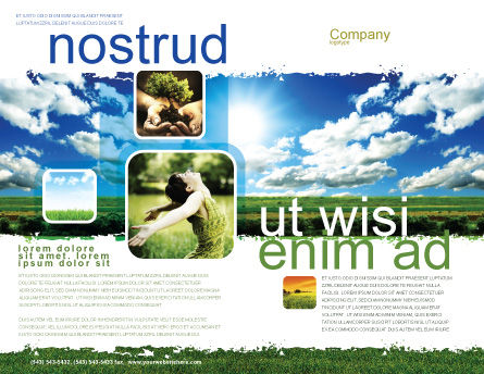 Bright Day Brochure Template, Outer Page, 06630, Nature & Environment — PoweredTemplate.com