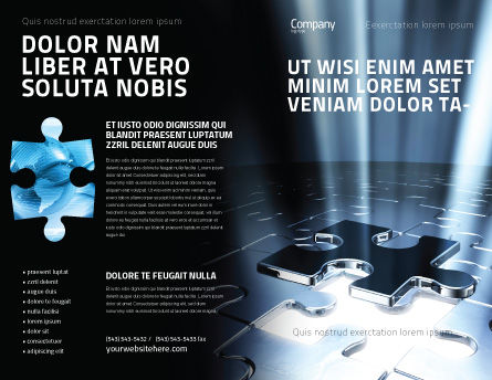Puzzle Piece In A Puzzle Brochure Template, Outer Page, 06648, Consulting — PoweredTemplate.com