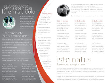 Question Mark Brochure Template, Inner Page, 06651, Consulting — PoweredTemplate.com