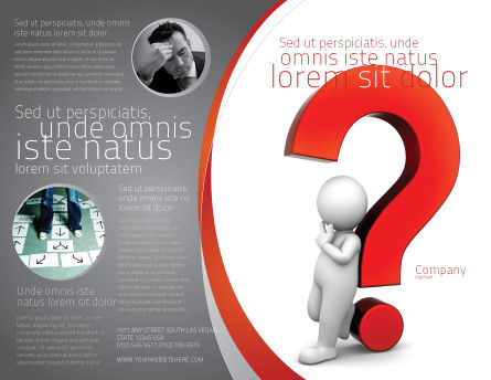 Question Mark Brochure Template, Outer Page, 06651, Consulting — PoweredTemplate.com