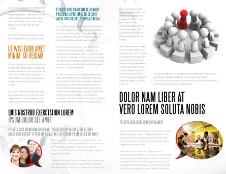 Group Deliberation Brochure Template, Inner Page, 06654, 3D — PoweredTemplate.com