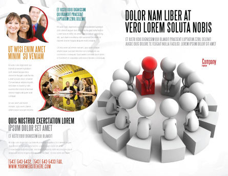 Group Deliberation Brochure Template, Outer Page, 06654, 3D — PoweredTemplate.com