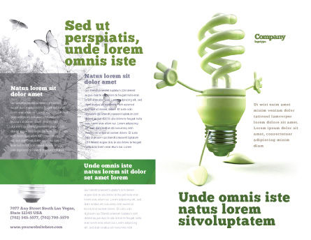 Energy Save Lamp Brochure Template, Outer Page, 06657, Nature & Environment — PoweredTemplate.com