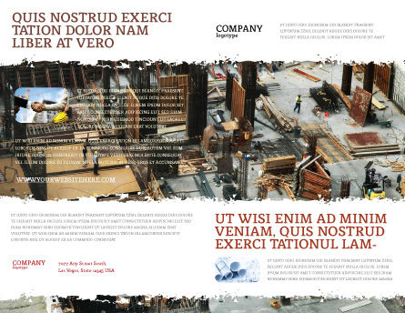 Big Building Site Brochure Template, Outer Page, 06675, Construction — PoweredTemplate.com