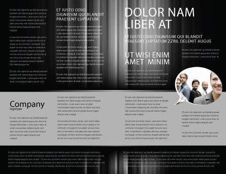 Mob Brochure Template, Inner Page, 06683, Art & Entertainment — PoweredTemplate.com