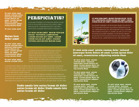 Bad Ecology City Brochure Template, Inner Page, 06687, Nature & Environment — PoweredTemplate.com