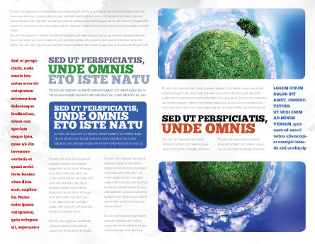 Green Planet In the Space Brochure Template Inner Page