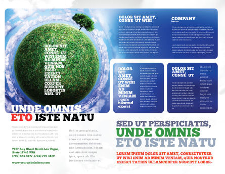 Green Planet In the Space Brochure Template Outer Page