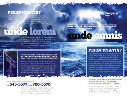 Royal Blue Sea Brochure Template Outer Page