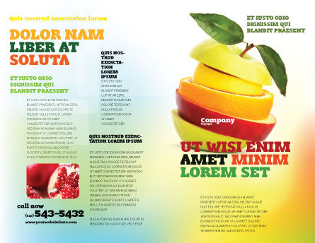 Cut Apple Brochure Template Outer Page