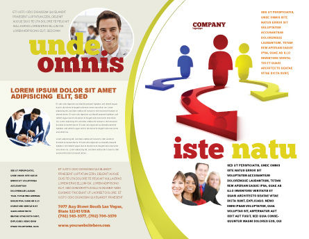 Life Choices Brochure Template, Outer Page, 06753, Business Concepts — PoweredTemplate.com