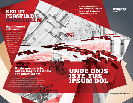 Abstract City Collapse Brochure Template, Outer Page, 06774, Construction — PoweredTemplate.com
