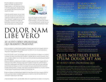 Contemplation Brochure Template, Inner Page, 06786, Religious/Spiritual — PoweredTemplate.com