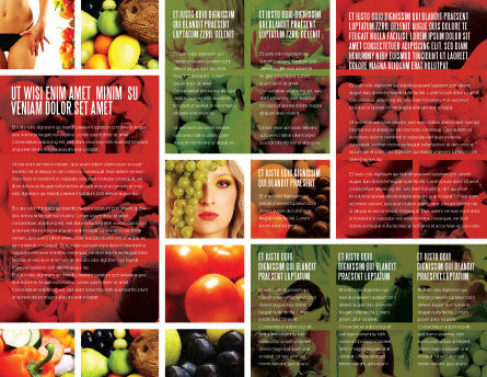 Nutrition Brochure Template, Inner Page, 06856, Food & Beverage — PoweredTemplate.com