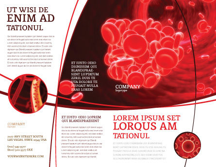 Blood Clot Brochure Template, Outer Page, 06904, Medical — PoweredTemplate.com