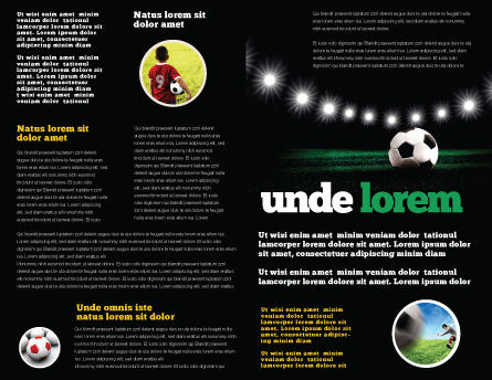 Football Stadium In The Night Brochure Template, Inner Page, 06916, Sports — PoweredTemplate.com