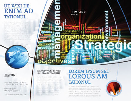 Strategic Management Brochure Template, Outer Page, 06919, Business — PoweredTemplate.com