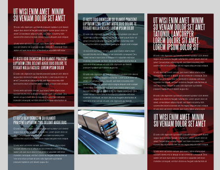 Trailer Trucks Brochure Template, Inner Page, 06923, Cars/Transportation — PoweredTemplate.com