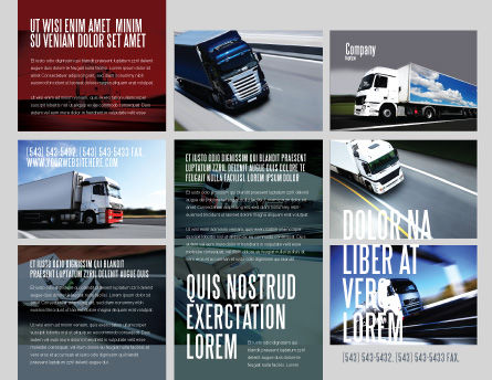 Trailer Trucks Brochure Template, Outer Page, 06923, Cars/Transportation — PoweredTemplate.com