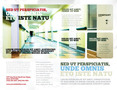 Hospital Hallway Brochure Template, Outer Page, 06928, Medical — PoweredTemplate.com