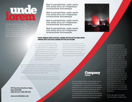 Catastrophe Speedometer Brochure Template Inner Page
