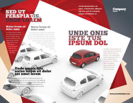 Red Car Brochure Template Outer Page