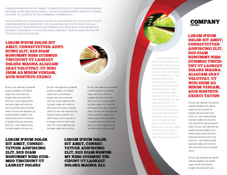 High-Speed Train Brochure Template Inner Page