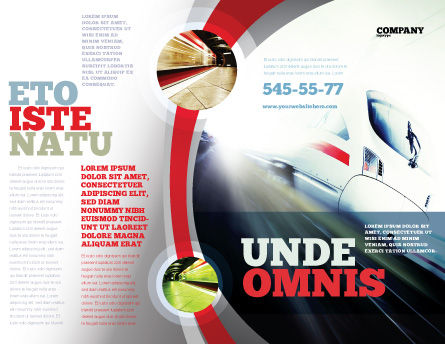 High-Speed Train Brochure Template Outer Page