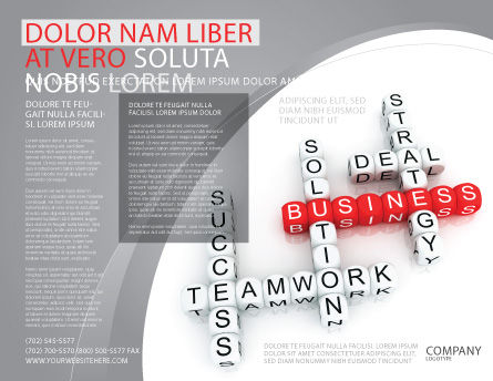 Business Game Brochure Template Outer Page
