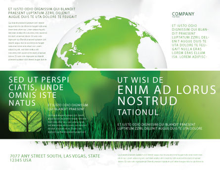 Growing World Brochure Template Outer Page