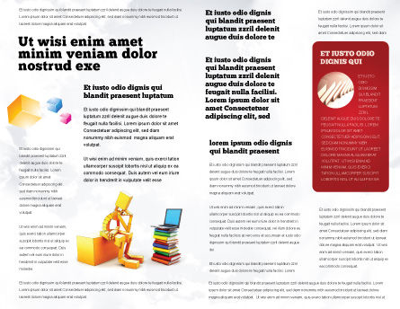 Computer Training Brochure Template, Inner Page, 06990, Education & Training — PoweredTemplate.com