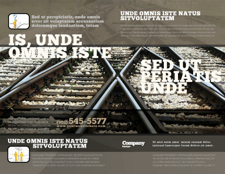 Railways Brochure Template Outer Page