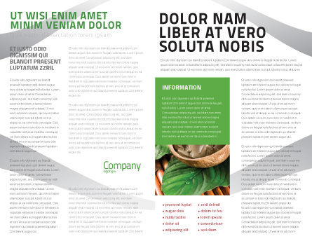 Bio Cosmetics Brochure Template, Inner Page, 07032, Nature & Environment — PoweredTemplate.com