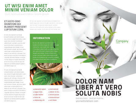 Bio Cosmetics Brochure Template, Outer Page, 07032, Nature & Environment — PoweredTemplate.com