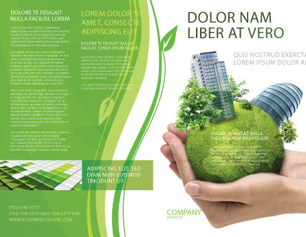 Green Habitat Brochure Template, Outer Page, 07037, Nature & Environment — PoweredTemplate.com
