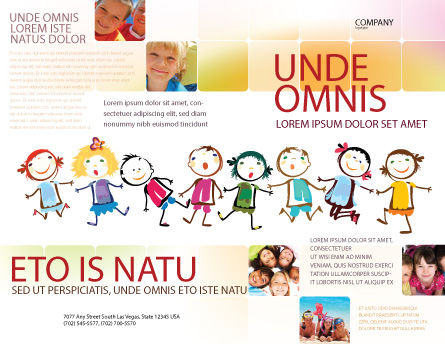 Funny Kids Brochure Template Outer Page